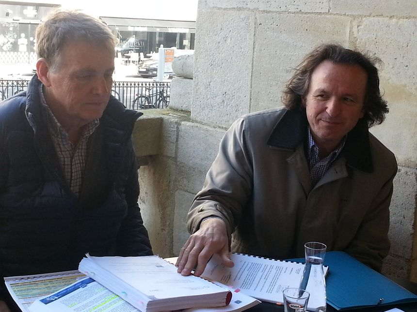 Denis Teisseire et Jacques Dubos, de Trans'Cub  - Radio France