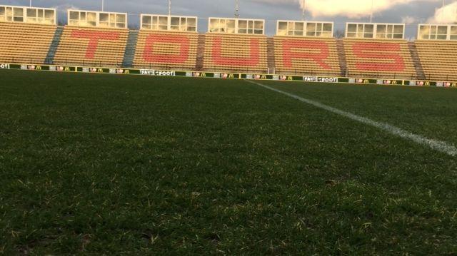 Le stade de la Vallée-du-Cher, vide, avant de recevoir Brest et les retrouvailles avec Youssef Adnane