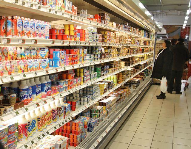 yaourts supermarché produits laitiers