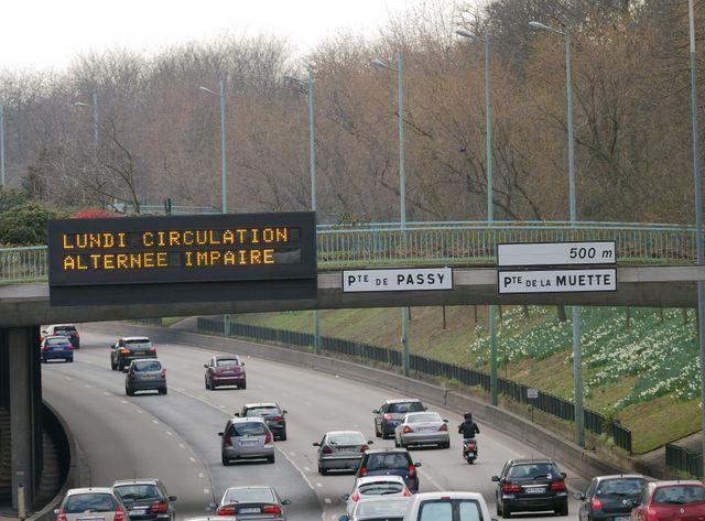 Circulation alternée à Paris