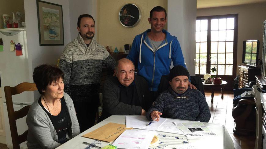 Photo de Michel et sa famille