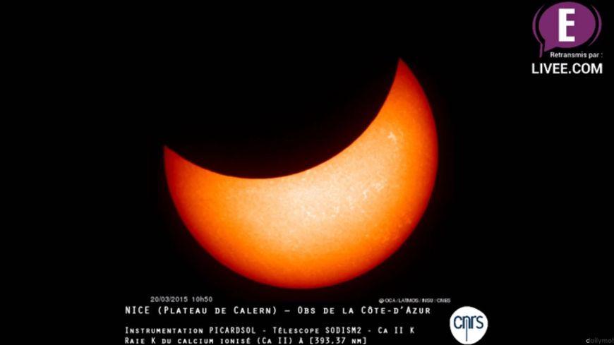 L'éclipse du 20 mars vue depuis Nice