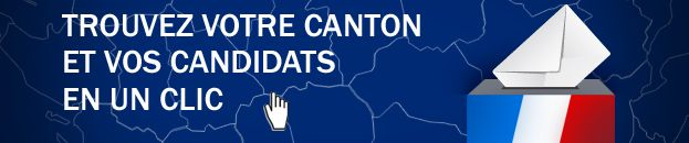 Infographie - lien vers carte interactive (cantons et candidats) - Eric Turpin - Radio France