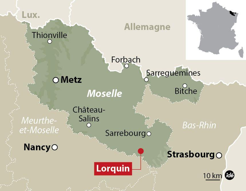 Carte de la Moselle. - IDÉ