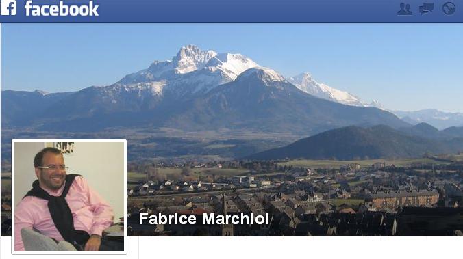 Capture Facebook de la page de Fabrice Marchiol.