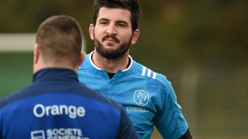 Loann Goujon lors du stage des Bleus à Canet fin janvier.