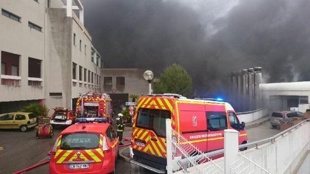L'hôpital l'Archet en feu