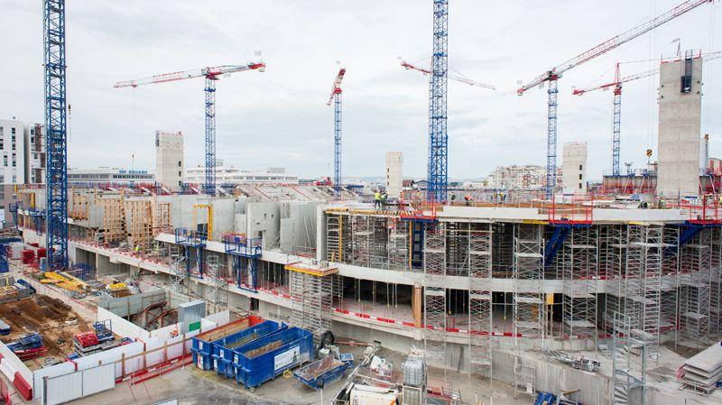 Arena Nanterre La Défense  chantier  mars 2015 (Paris)