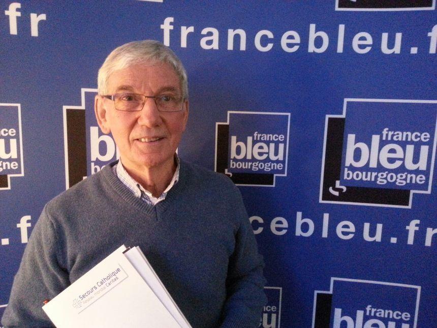 Claude Chauby, Secours catholique de Côte d'Or - Radio France