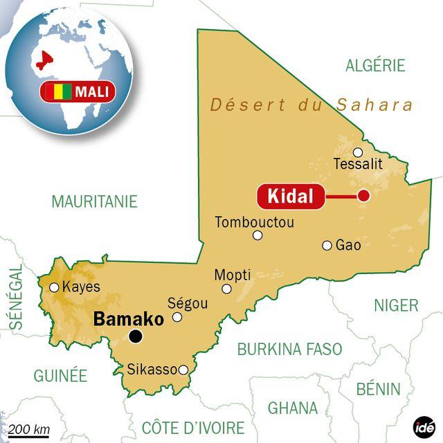 Kidal, dans le nord du Mali