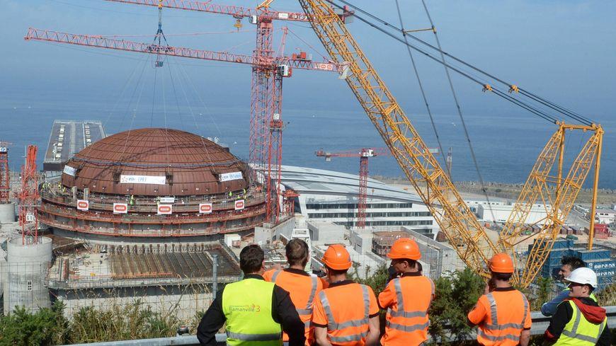 Le vaste chantier de l'EPR de Flamanville dans le Cotentin
