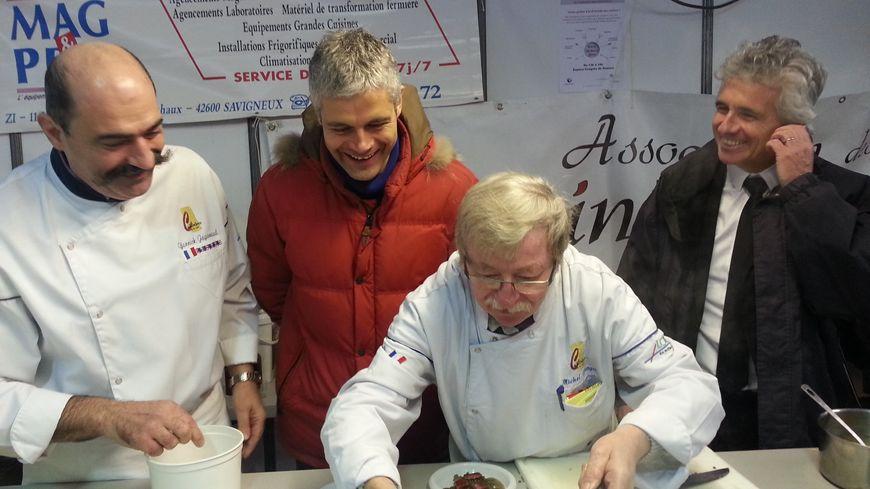 Laurent Wauquiez, le maire du Puy-en-Velay et Jean-Pierre Taite, le maire lors du Comice de Feurs