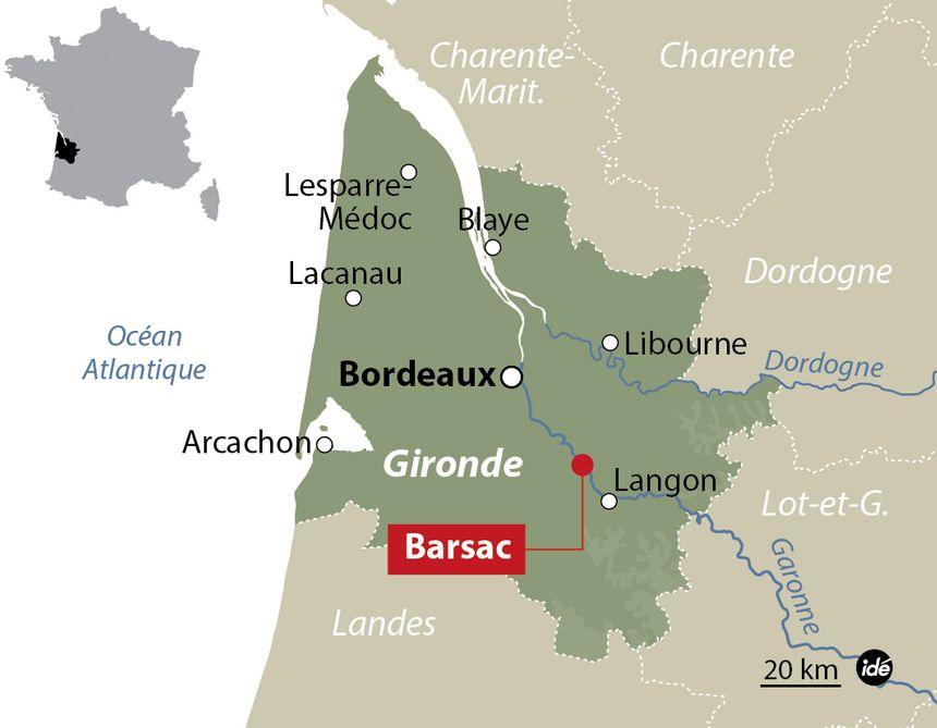 La commune de Barsac en Gironde. - Idé