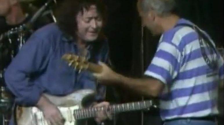 Rory Gallagher invite Dan Ar Braz sur scène à Lorient en 1994