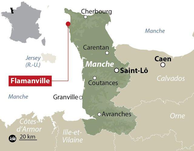 Flamanville dans la Manche