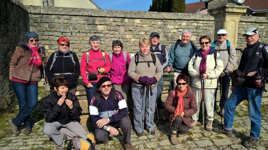 Le groupe de randonnée de l'ASL de Couthenans en Haute-Saône