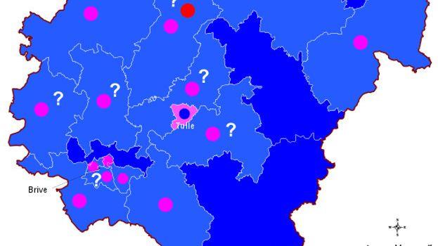 Selon les projections à l'issue du premier tour des départementales, la Corrèze devrait basculer à droite.