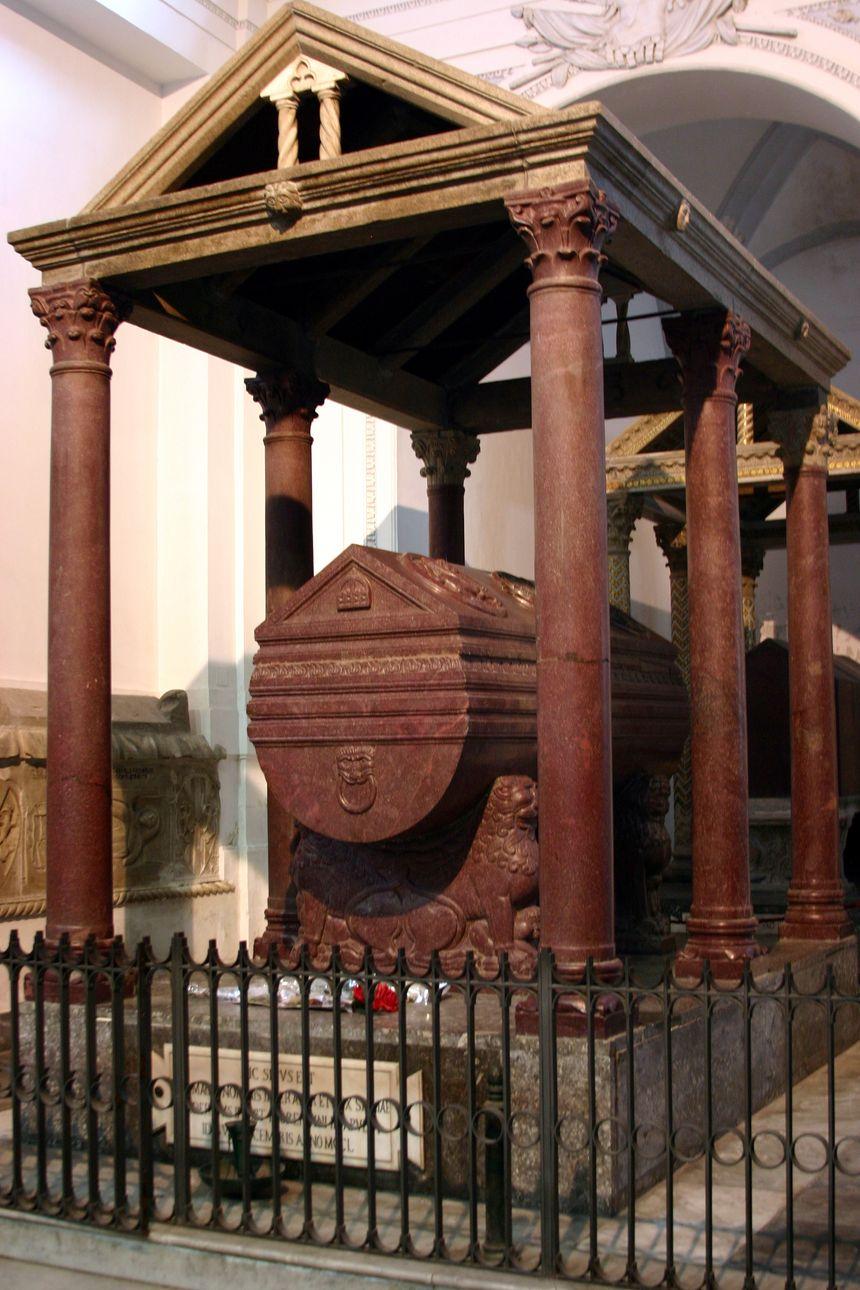 Tombeau de Frédéric II à Palerme - Creative commons