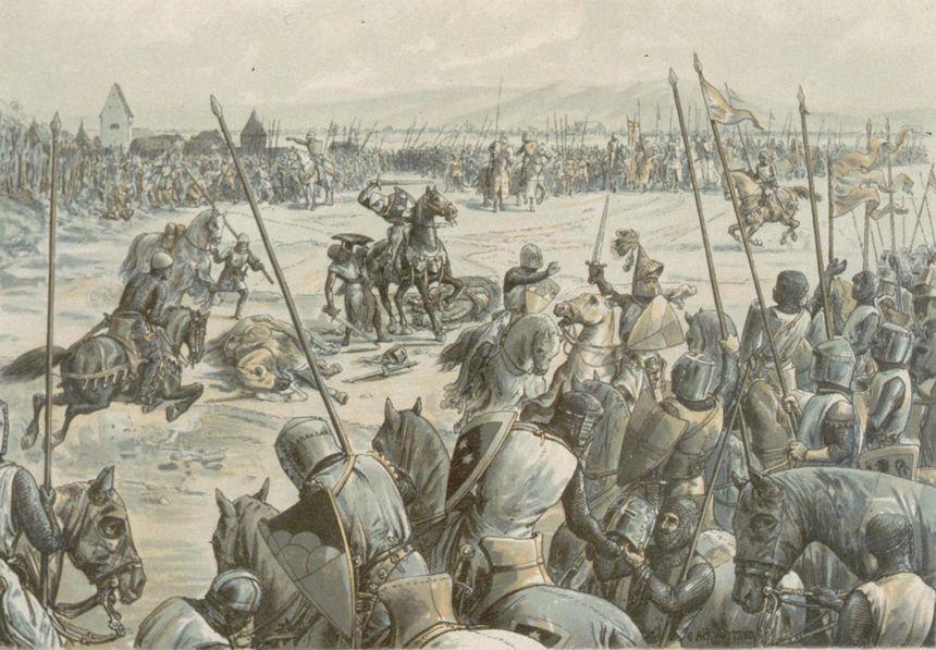 Bataille de Hausbergen, par Emile Schweitzer (1894) - Creative commons