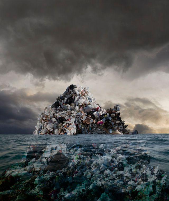 Pollution dans les océans (création graphique)