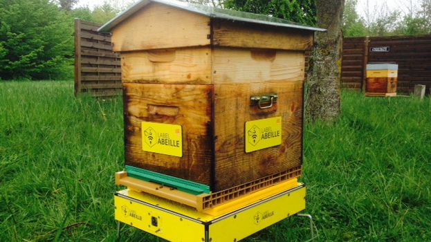 Une ruche connectée de Label Abeille.