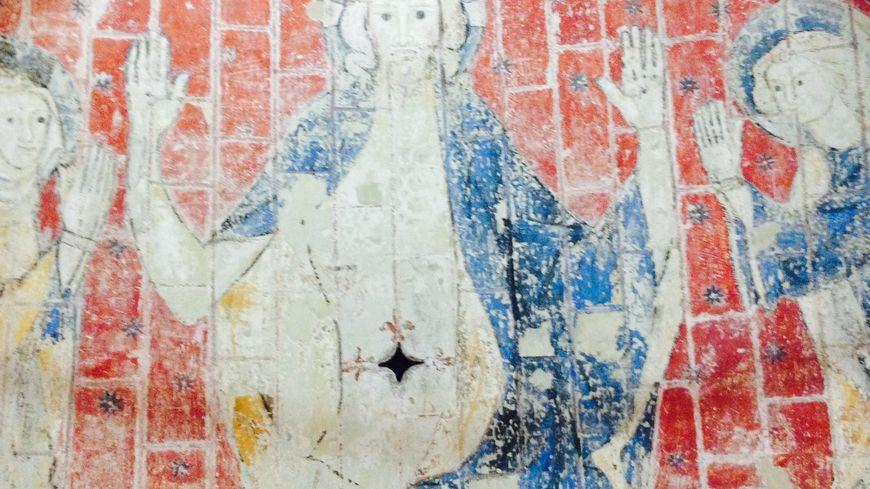 Pinturas do século 13 em excelente estado