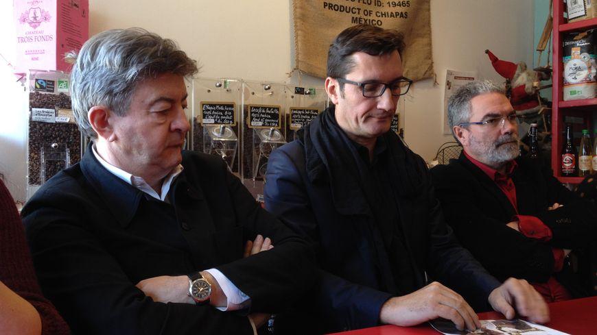 Jean-Luc Mélenchon est venu soutenir Olivier Dartigolles à Bègles