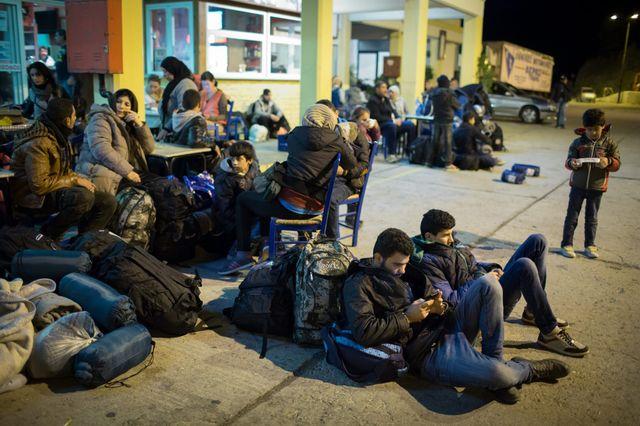 Camps de réfugiés à Lakki sur l'ile de Leros