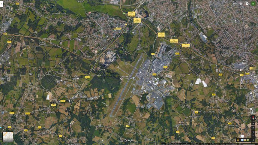 L'aéroport Nantes Atlantique. - Aucun(e)