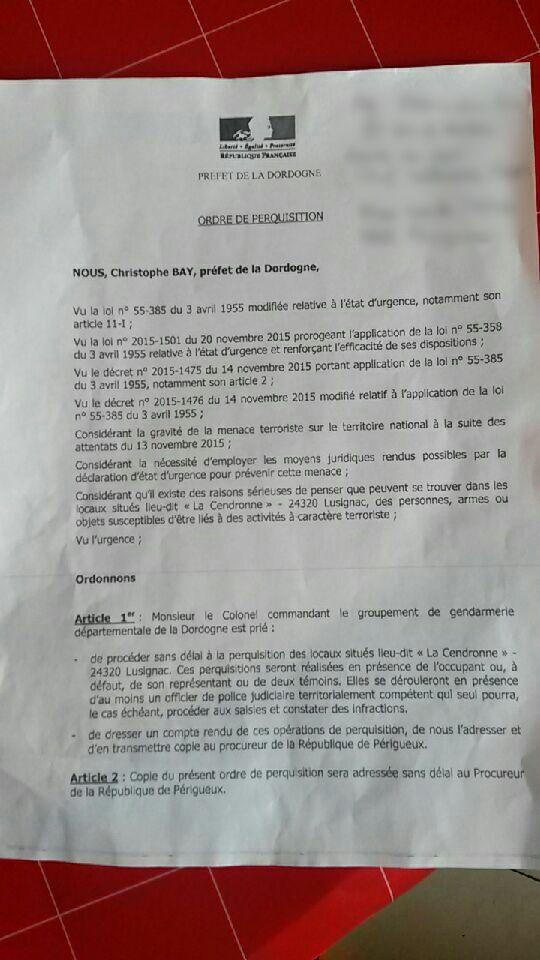 Ordre de perquisition transmis aux maraîchers. - Radio France