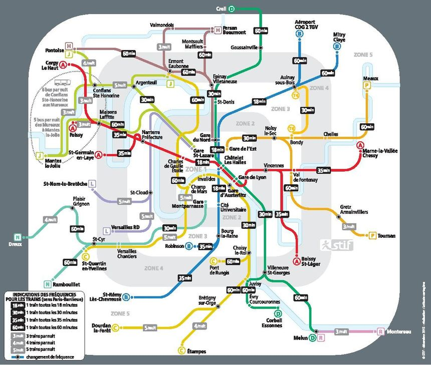 horaire rer a with Ile De France La Carte Des Metros Et Rer Ouverts Pour Le Jour De L 1451299502 on Niveau Departs Terminal 1 Roissy Charles De Gaulle likewise Musee D Histoire Naturelle Paleontologie moreover Bus 172 also Jardin Du Luxembourg additionally 2.