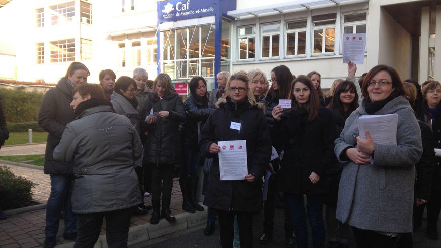 Les salariés de la CAF de Nancy en grève