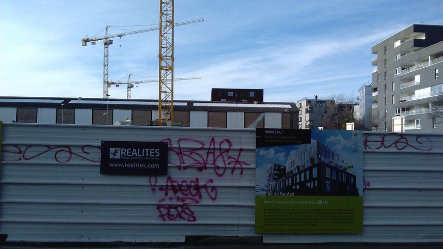 """Le chantier """"Unik"""" derrière le palais de Justice à Nantes"""