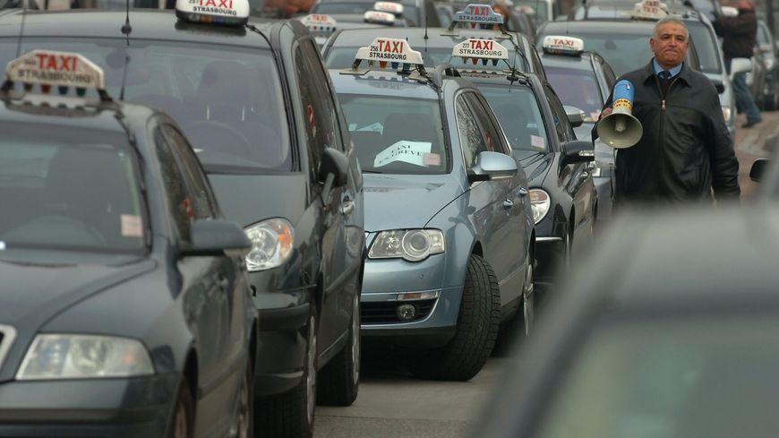 Les taxis ont déjà manifesté à plusieurs reprises à Strasbourg