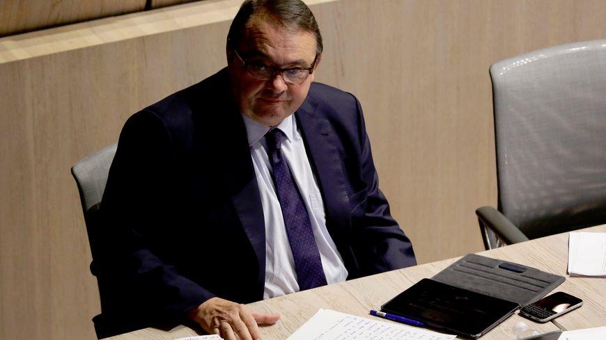 Patrick Mennucci lors du Conseil municipal de Marseille le 26 octobre 2015