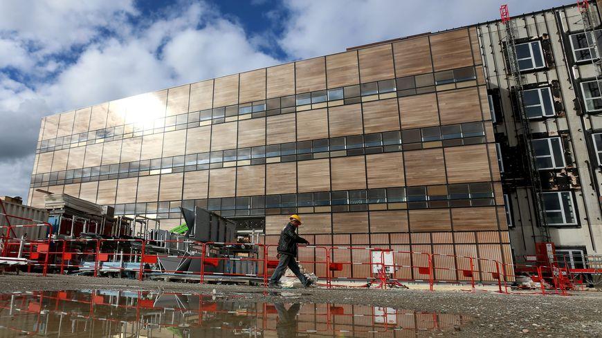 L'hopital de Trévenans en chantier (septembre 2015).