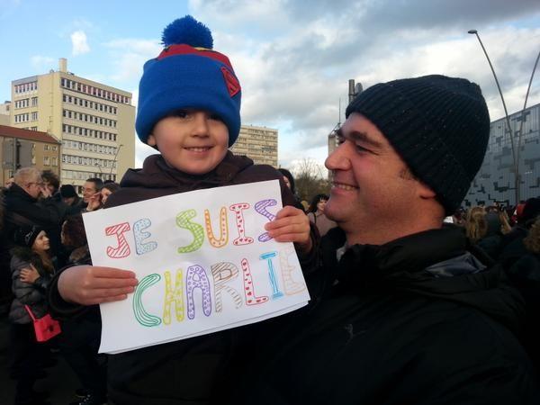 C'est la première manifestation de certains petits Mosellans, le 11 janvier 2015 - Radio France