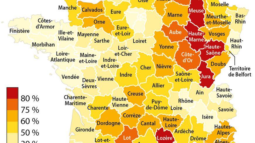 En Côte-d'Or 75 % des communes comptent moins de 500 habitants