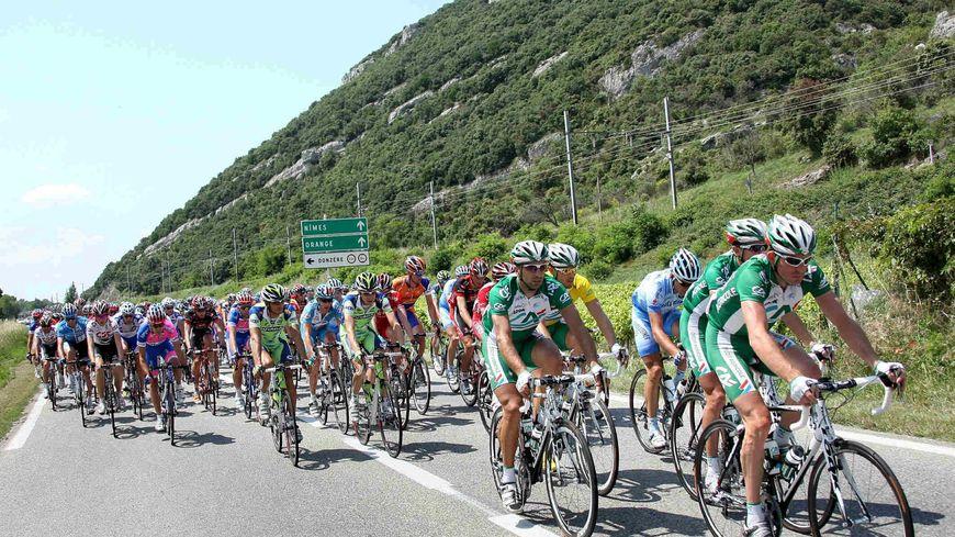Le Critérium du Dauphiné, une étape au départ de Bg Saint Andéol en juin 2008