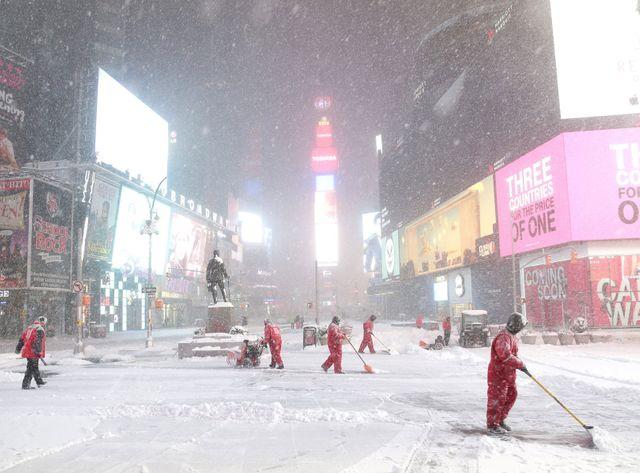Times Square méconnaissable après le passage de Snowzilla