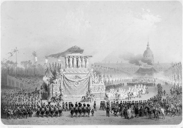 Retour des cendres de Napoléon Ier de Sainte-Hélène le 15 décembre 1840 - gravure de 1840-41