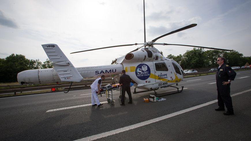 Un hélicoptère du SAMU en France