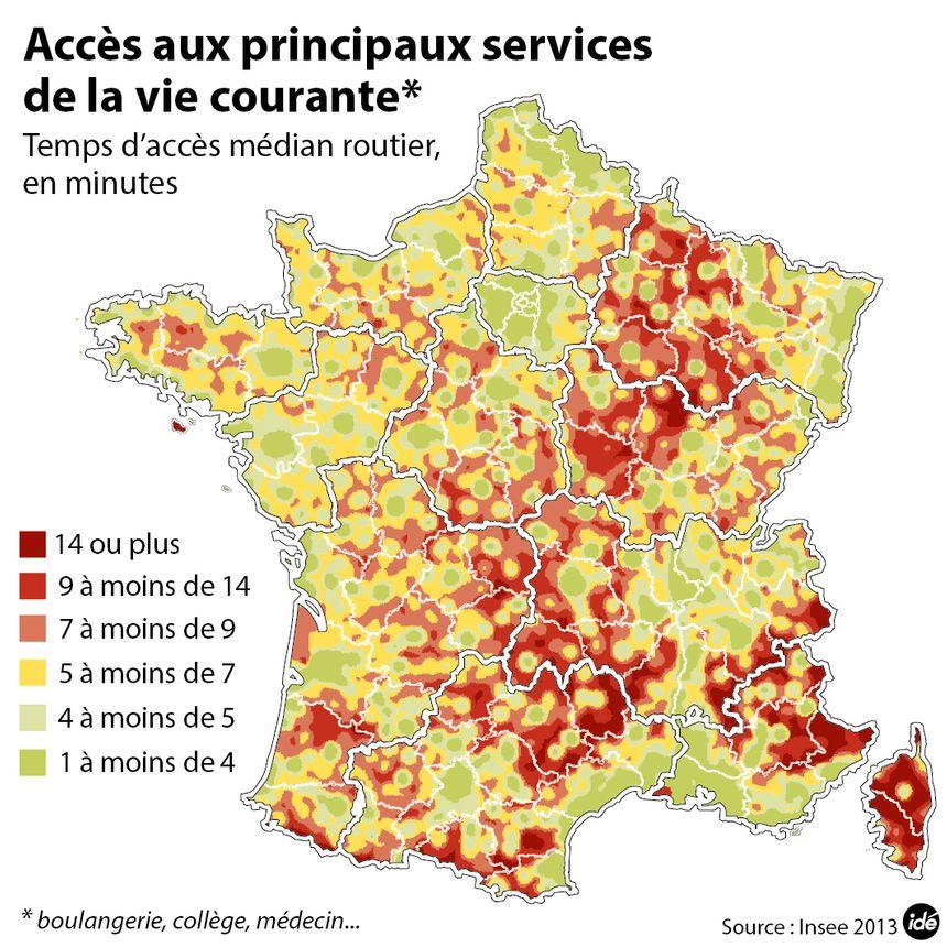 Dans le nord Côte-d'Or, l'accès aux services peu dépasser les 14 minutes - Aucun(e)