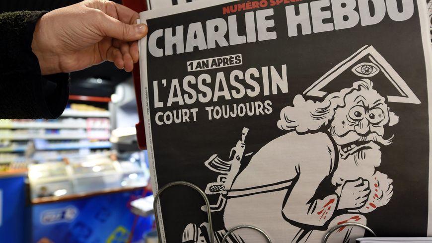 La Une de Charlie Hebdo, un an après les attentats de Paris