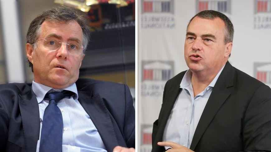 L'ancien et le nouveau maire d'Orléans, S. Grouard et O. Carré