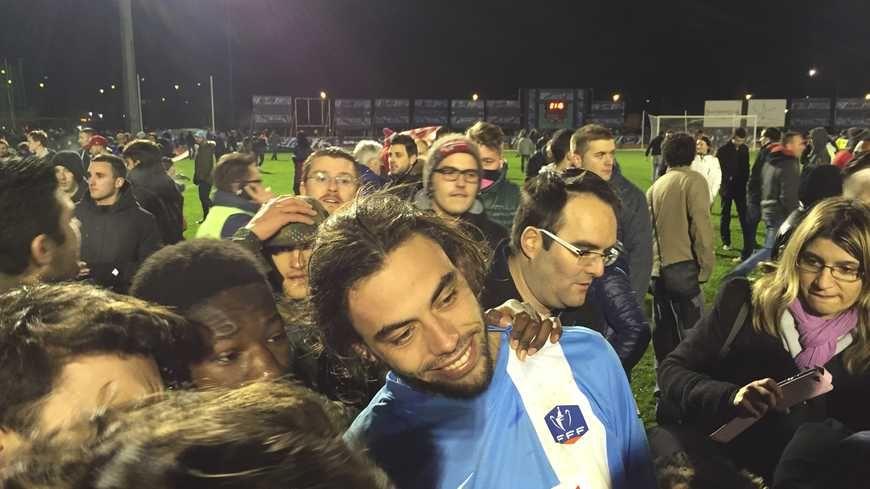 Lors de la victoire contre Lille au stade Rongiéras.