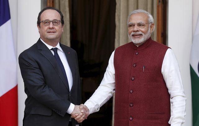 François Hollande et le Premier ministre indien Narendra Modi