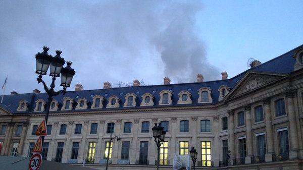 Le Ritz en feu