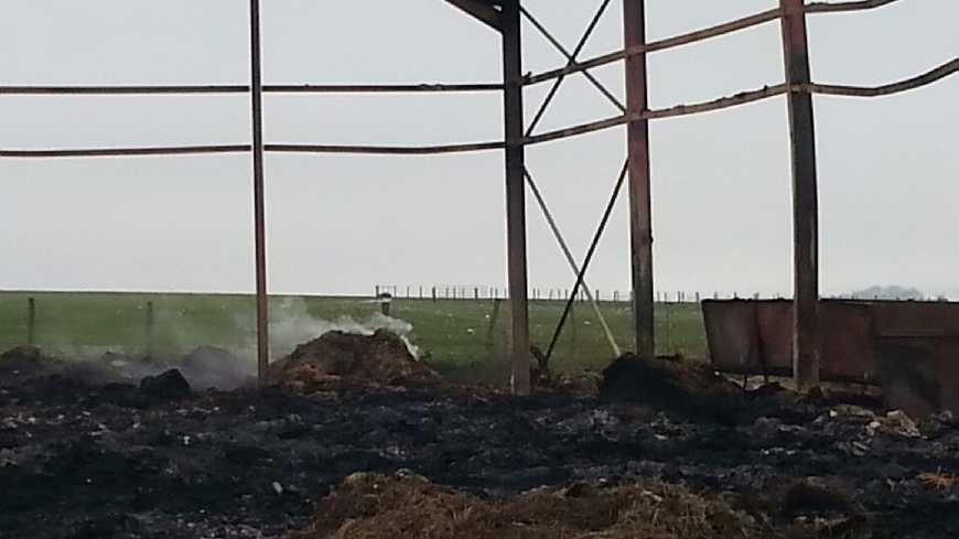 Un hangar à fourrage incendié dans le Châtillonnais
