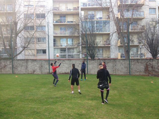 Les joueurs du Toulouse Rodéo à l'entraînement. - Radio France